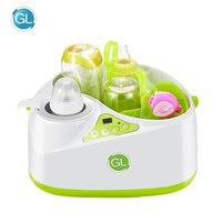 GL Multifunction 2 in 1 Bottle Sterilizer Bottle Warmer Milk Thermostat Steam Disinfection Machine Baby Drinking Water Heater