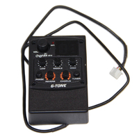 Cherub EQ Preamp System GT Series Acoustic Guitar Preamp GT 5 3 Band EQ with Tuner and Reverb and Chorus Effects