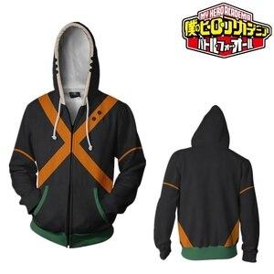 Image 5 - Mon héros académique Boku pas de héros académique 3D impression sweat à capuche fermeture éclair sweat vestes manteau Cosplay Costumes Anime uniformes scolaires