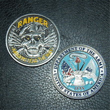 ARMY RANGER SKULL BERET 1.75 CHALLENGE COIN DAGGER RANGERS LEAD THE WAY