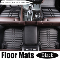 1Set Car Floor Mats for Honda for CR V/CRV 2002 2006 Black Anti Slip Carpet Car Styling Auto Interior Accessories