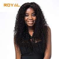 Kinky Curly Wig Brazilian Lace Front Human Hair Wig With Baby Hair Natural Color Hair line Royal Non Remy Wigs