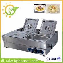 Электрический стол суп теплее с 4 кастрюли Коммерческих Счетчик Топ 4 Пан водяной бане суп теплее