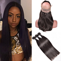 360 Lace Frontal With Bundle Peruvian Straight Virgin Hair 360 Frontal With Bundles Peruvian Straight Hair 360 Frontal Closure