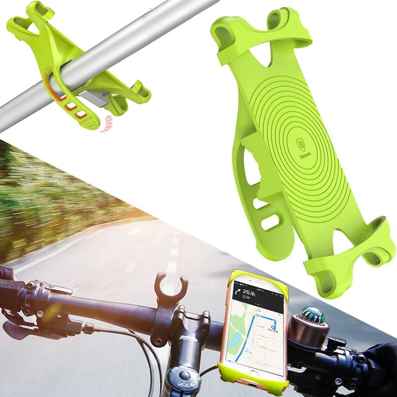 Baseus Bike Phone Holder For Smart Mobile Cell Phone Holder Bike Handlebar Mount Bracket GPS Stand Bicycle Phone Holder