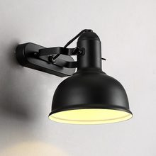 Industrial Vintage Lighting Wall Light Sconce Fixture Indoor Home Decor Shop Loft Design Lamp Retro Black Iron E27 Led bulb 220V