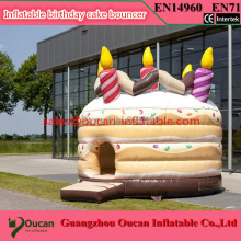 4m diameter inflatable bitthday cake bouncer, inflatable bouncy castle for children, inflatable bounce house
