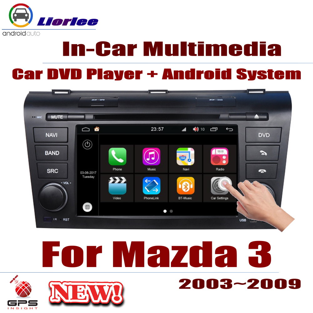Carro Sistema Android RockChip PX5 1080 P IPS Tela LCD Para Mazda 3 Mazda3 (BK) 2003 ~ 2009 DVD Player GPS de Navegação