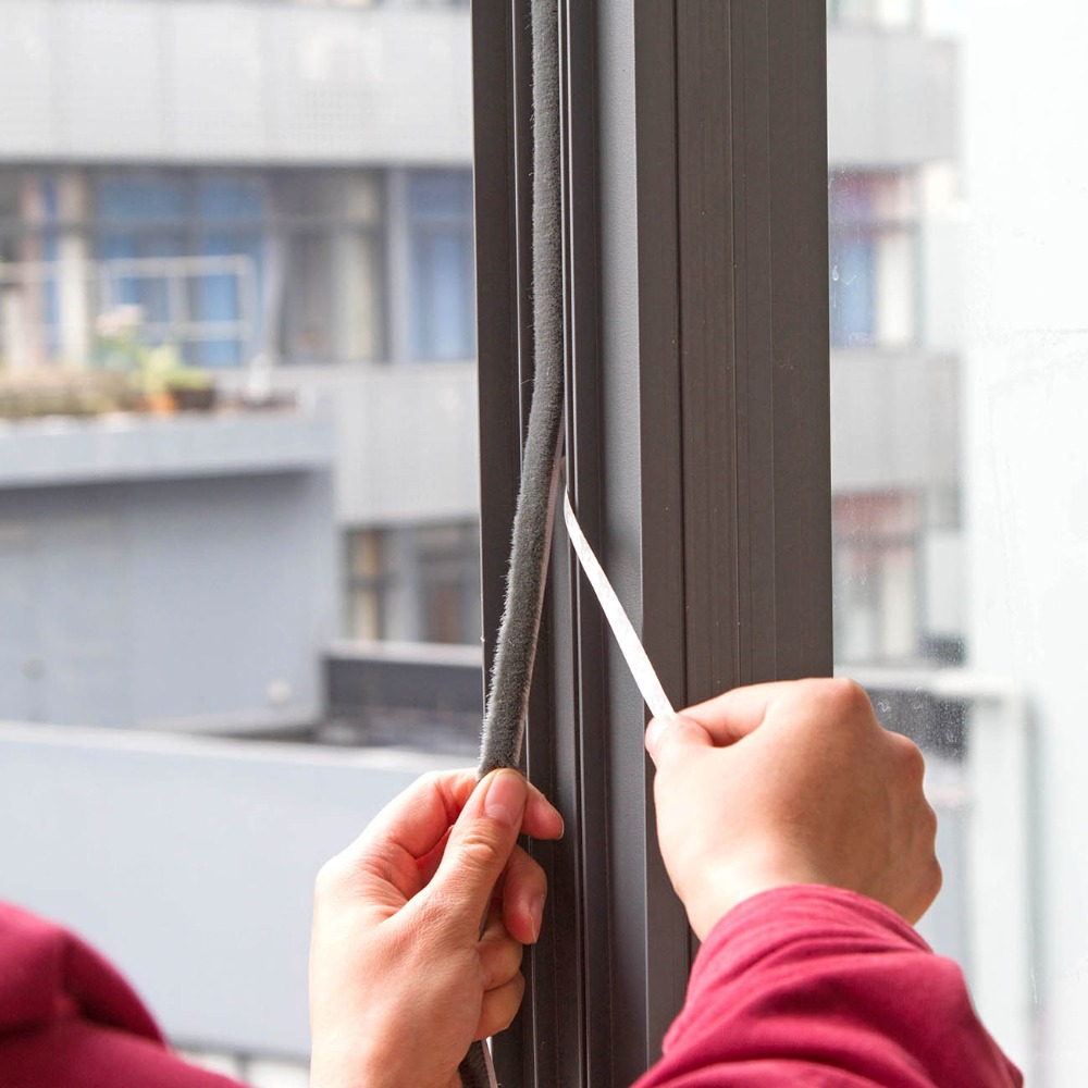 OTHERHOUSE 1Pc Wool Fibers Window Door Seal Soundproof Insulation Window Dusting Sealing Tape Acoustic Foam Weather Strip