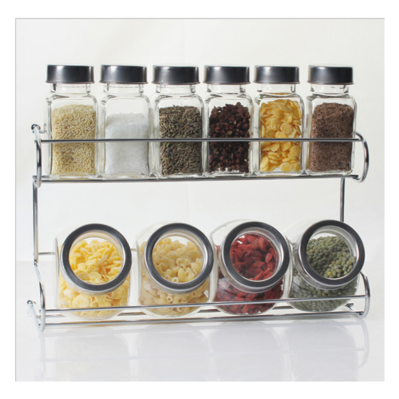 10 pcs seasoning rack kitchen supplies glass seasoning jar seasoning jar set meal kitchen tools potes