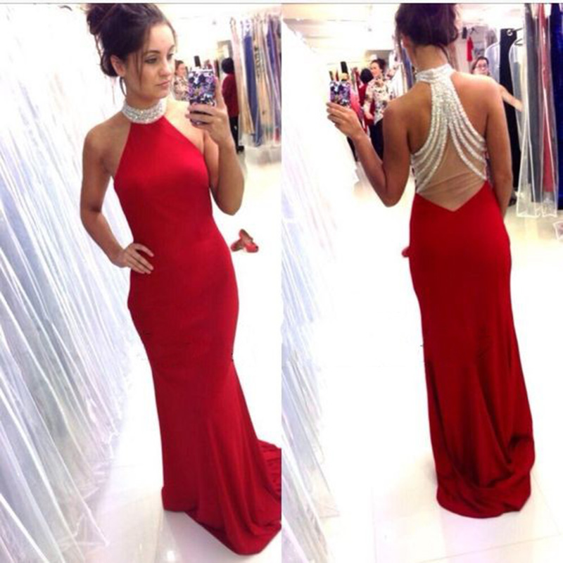 Aliexpress Buy 2016 Sexy Mermaid Prom Dresses With Halter Neck