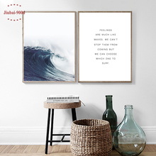 900D Seascape Poster Canvas Painting Sea Wave Wall Pictures For Living Room Nordic Posters And Prints Decorative NOR051