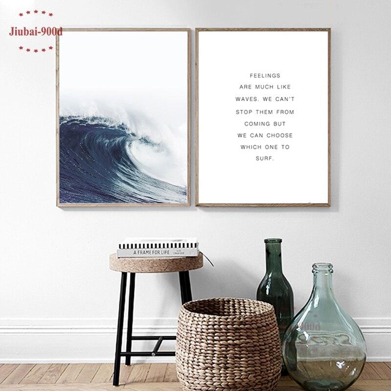 Malerei & Kalligraphie Haus & Garten 900d Seascape Poster Leinwand Malerei Meer Welle Wand Bilder Für Wohnzimmer Nordic Poster Und Drucke Dekorative Bilder Nor051 Weich Und Leicht