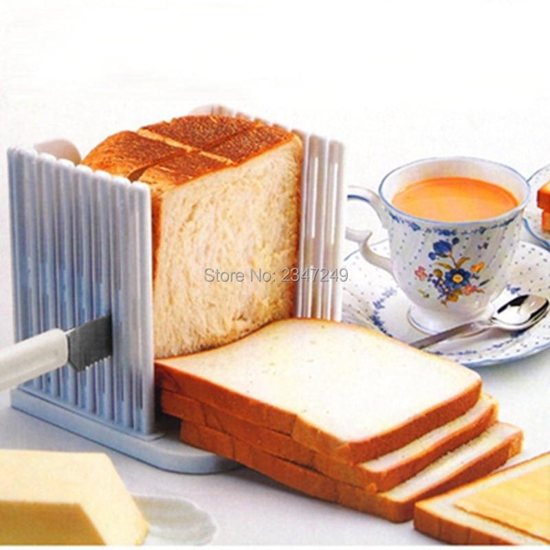 Hot New in Kitchen Tools Praktické řezačky chleba kráječ Loaf Toast řezání krájení průvodce Kitchin Bakeware nástroj