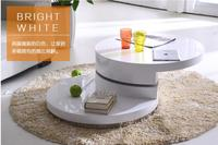 Simple Small Family Round Tea Table Table Of Black And White Of The Lacquer That Bake