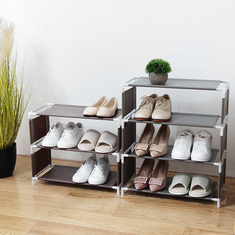 f/ácil de montar organizador de zapatos para dormitorio o armario varias capas 1 soporte para zapatos multifunci/ón