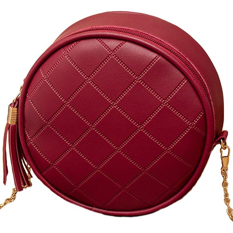 Women Summer Handbag Fashion Rhombic Small Round Bag Shoulder Diagonal Mobile Phone BagWomen Summer Handbag Fashion Rhombic Small Round Bag Shoulder Diagonal Mobile Phone Bag