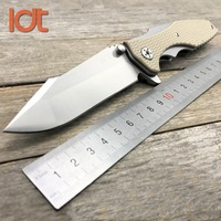 LDT 0393 Folding Knife CPM 20CV Blade G10 Pocket Tactical Camping Survival Knive Hunting Military Outdoor Bearing Knife EDC Tool
