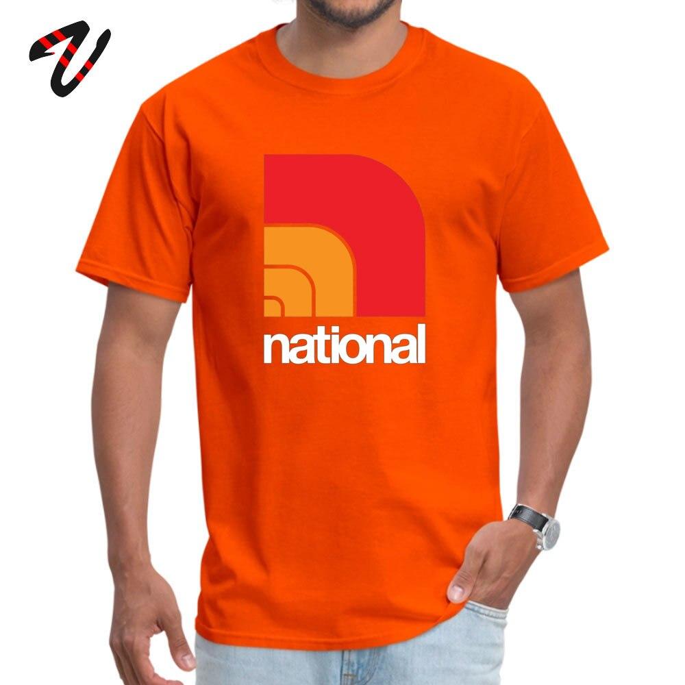 Cool National T Shirts Retro Summer Short Sleeve O Neck Tops Shirts 100% Cotton Men Printing Tops T Shirt Wholesale National -12519 orange