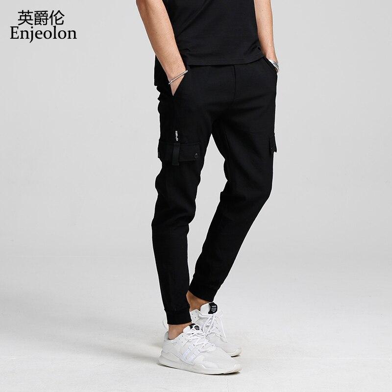 Enjeolon Brand Spring Sweatpants Men Long Trousers Pants High-quality Pants Males Fashion Causal Clothes Plus Size 3XL KZ6159