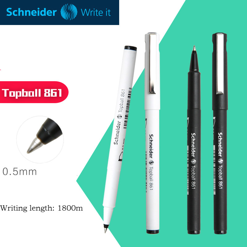 Germany Schneider Neutral Pen Gel Pen Black ink 0.5mm High Quality School Office Stationery Writing pen germany schneider simple gel pen 861 business office black signature pen 0 5mm 1pcs