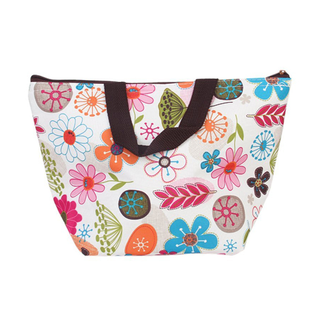 10pcs( ASDS Lunch Box Bag Tote Insulated Cooler Carry Bag for Picnic - Floral