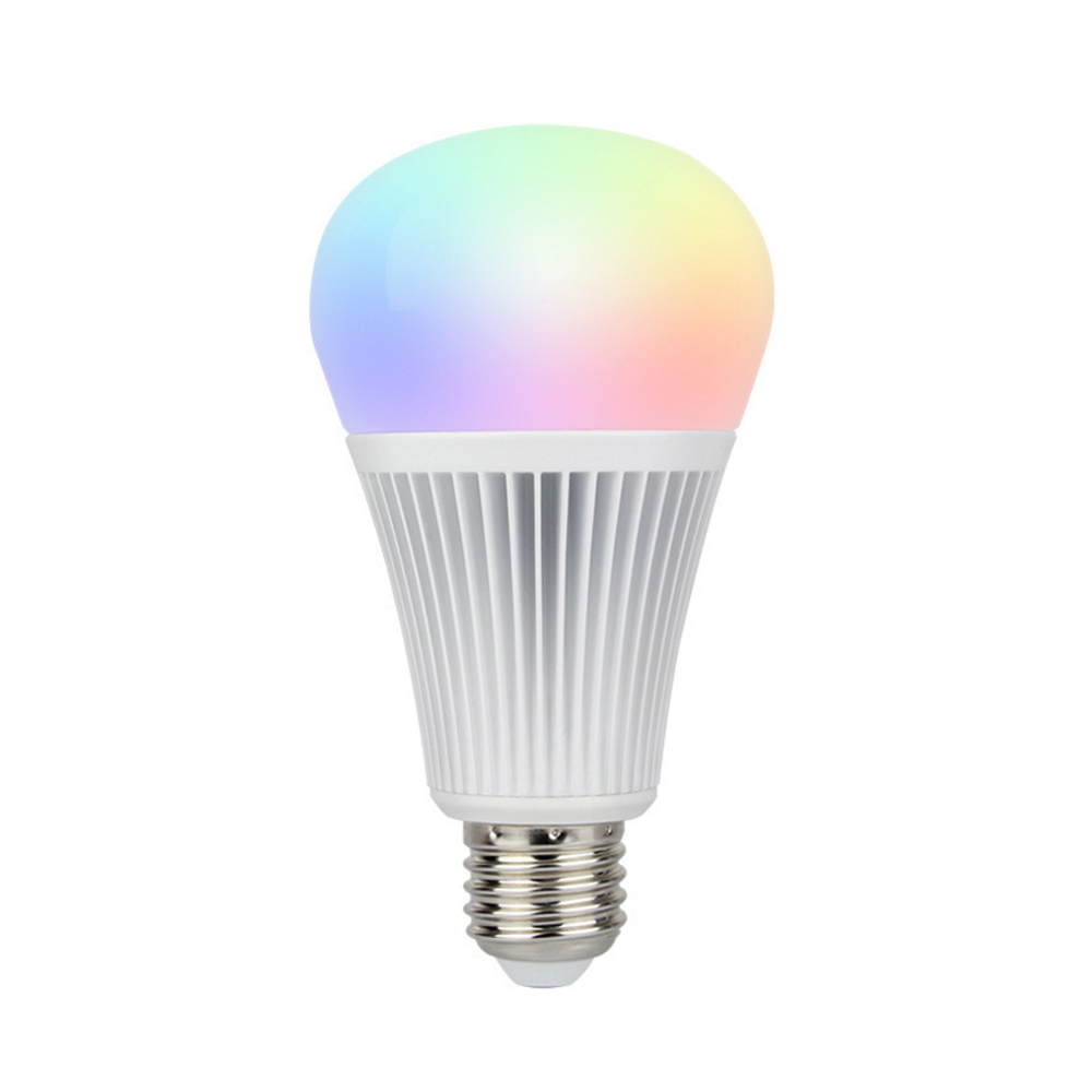 Smart E27 9W RGB+CCT LED Remote Bulb Light For Home Commercial Lighting Aluminum APP Control Lighting Bulbs With Remote Control