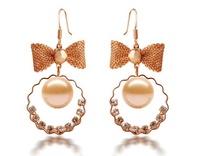 Brand New Wholesale Pendientes Bow Hollow Shell-shaped Drop Earring For Women Brinco Fashion Jewelry