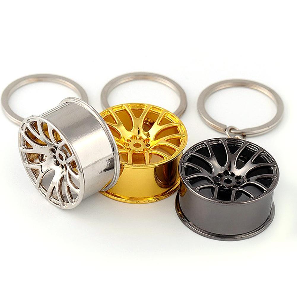 Creative Mini Car Key Chain Wheel Hub Auto Logos Repair Parts Tire High Quality