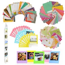 8 in 1 Accessories Set for Fujifilm Instax Square SQ10/SQ6/SP3 SQ20 Camera Pack of Stickers, Wall Hang Frame Lace Bag Desk