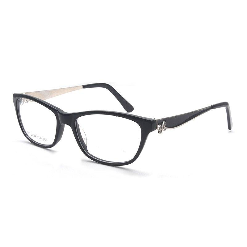 Reven Jate K9121 Acetate Full Rim Flexible High Quality Eyeglasses Frame for Men and Women Optical Eyewear Spectacles