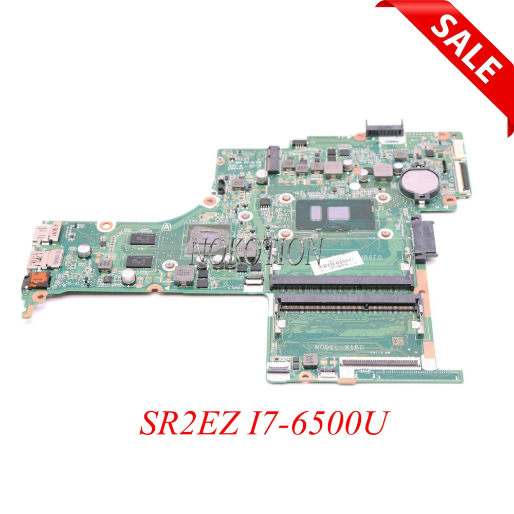NOKOTION 810335-601 810335-001 carte mère d'ordinateur portable pour HP pavillon 15-AB 15-AN 15-AN098NR SR2EZ I7-6500U CPU GT940M DAX1BDMB6F0