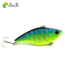 HENGJIA 1PC 7.5cm 18g 6#hooks game VIB hard fishing lures wobble bass pike peche fishing baits isca de pesca fishing tackles