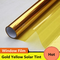2 Mil Gold Yellow Decoration Solar Tint Window Film Improve Privacy UV 99% Heat Proof High Quality Glass Tint Film Decor