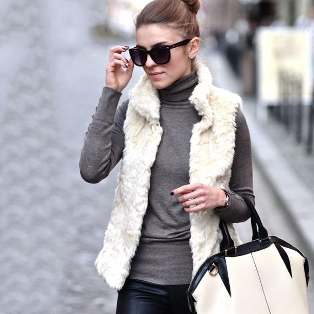 48c5ed2a66b Buy women faux fur waistcoat short vest and get free shipping on  AliExpress.com
