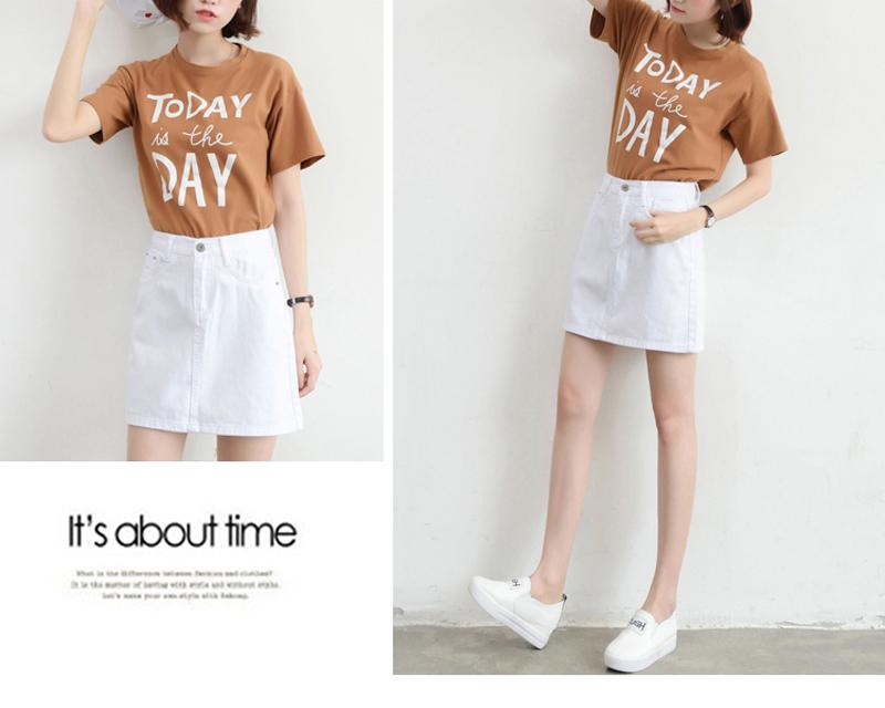 Lucyever Fashion Korean Summer Women Denim Skirt High Waist Black Mini Skirts Package Hip Blue Jeans Harajuku Plus Size Cotton 31