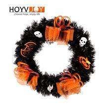 HOYVJOY Halloween Artifical Flower Wreath Vitality Series Handmade Garland 40cm Diameter PVC Festival Decoration Holiday Decor