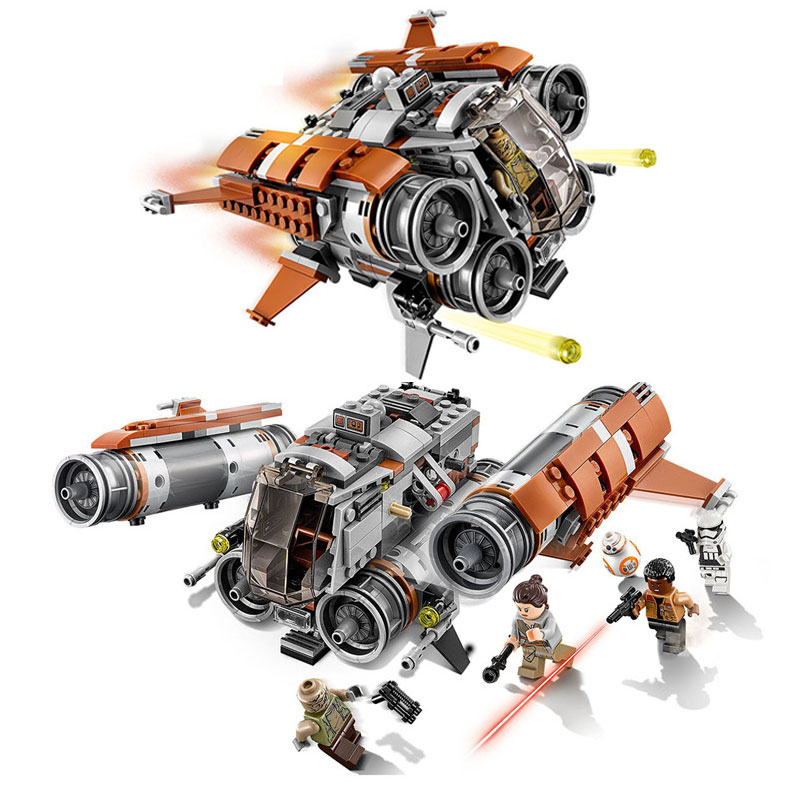 Lepin 05111 482Pcs Star Space The JA Quadjumper Set Model Building Blocks Bricks Toys Kids Gifts Compatible with 75178 lepin 05111 482 stucke sterne echtem atemberaubende wars die jakku quadjumper set kinder bausteine lernspielzeug modell 75178
