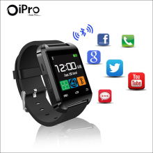 High Quality U80 Bluetooth 4.0 Smartwatch MTK WristWatch Pedometer Healthy Smart Watch U80 For iPhone LG Samsung Android  Phone