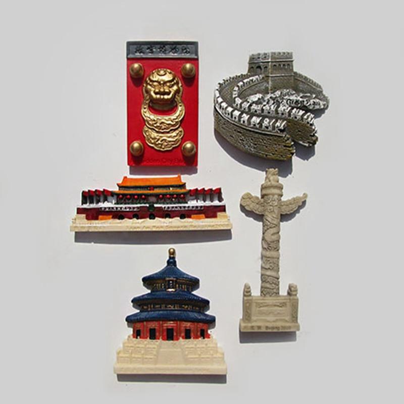 China Landmark Beijing Resin Fridge Magnet World Travel Souvenirs Home Decor Crafts Refrigerator