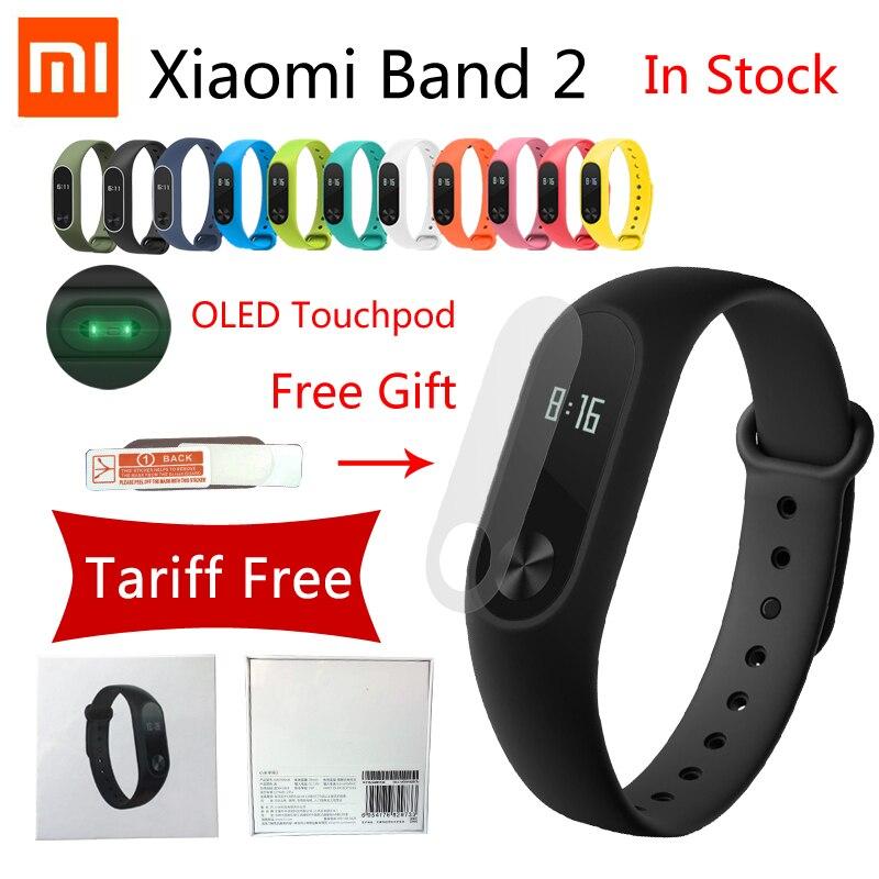 In Stock NEW HOT Original IP67 Xiaomi Mi Band 2 Smart Bracelet Heart Rate Pulse Xiaomi