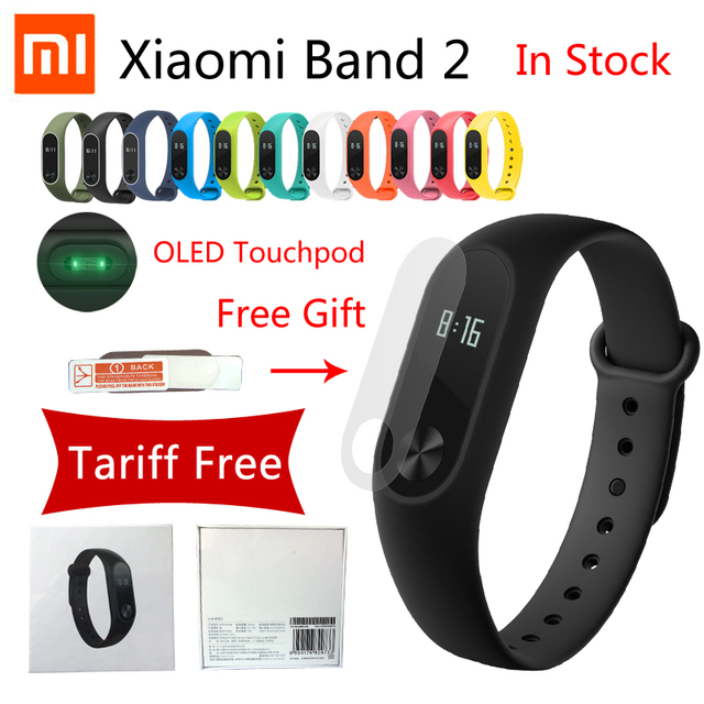 Оригинал фитнес браслет Xiaomi 2 Смарт Браслет Сердце Пульс Xiaomi Miband 2 xiaomi mi группа 2 С OLED Сенсорной Панели mi группа Браслет Браслет mi band 2 bracelet band2