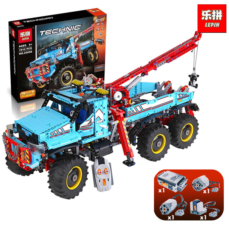 Lepin 20056 1912Pcs The Ultimate All Terrain Remote Control Truck Set Building Blocks Bricks  42070 LegoINGlys birthday gifts