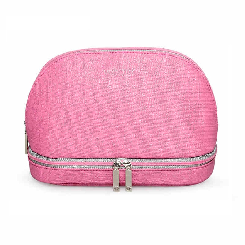 Women 2018 Waterproof Makeup bag pu leather Travel Cosmetic Bag Cases Case Necessaries Toiletry Bag Double