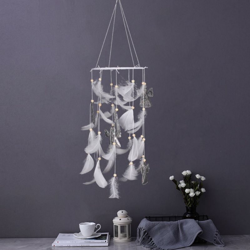 Christmas Decoration Series New Dreamcatcher Plastic Feather Cloth Family Bar Restaurant Party  Hanging Ornaments Bedroom Wind
