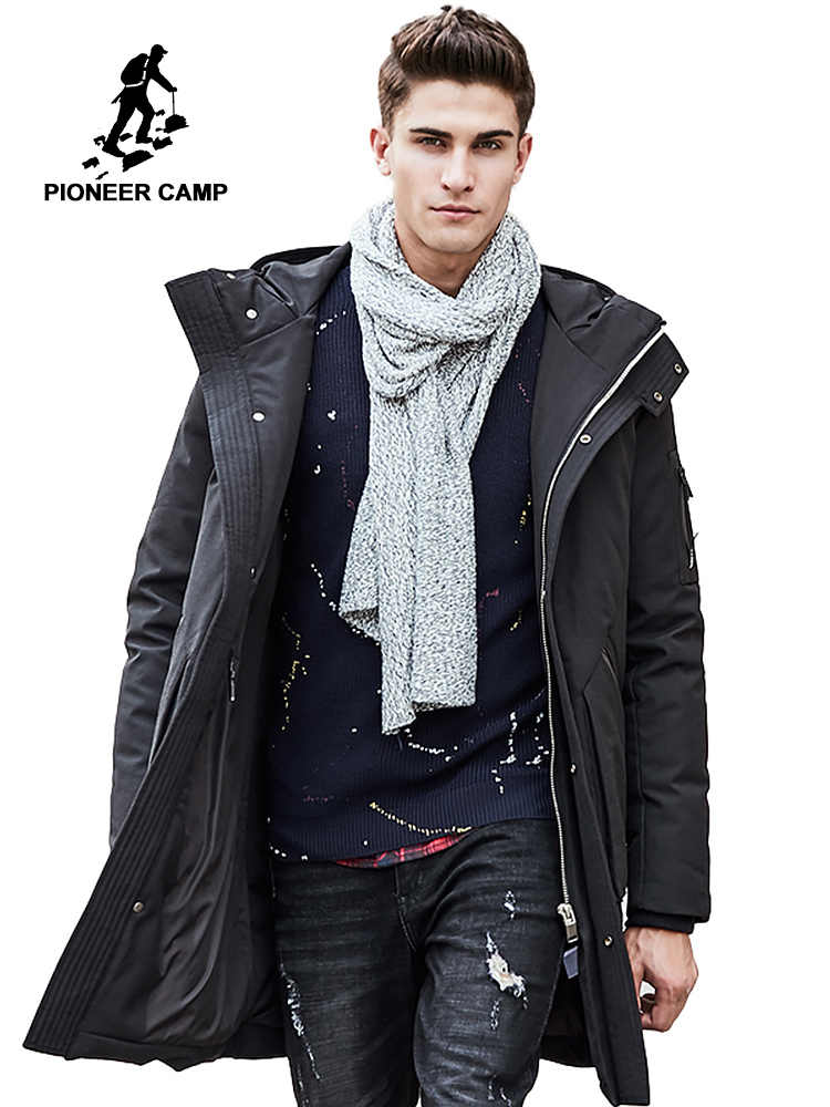 3ca8d91832 Pioneer Camp Russian winter down jacket men brand clothing Top quality Long  warm Thick 90%