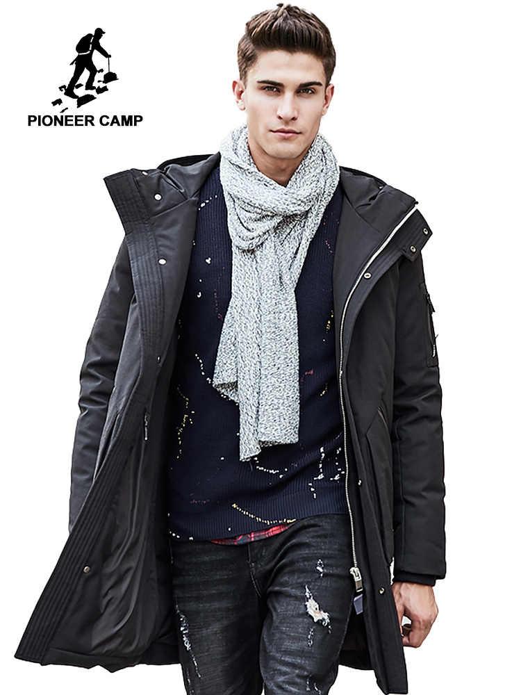 b91782f0b57 Пионерский лагерь русский толстая зимняя куртка-пуховик мужские теплая  новая модная брендовая одежда наивысшего качества