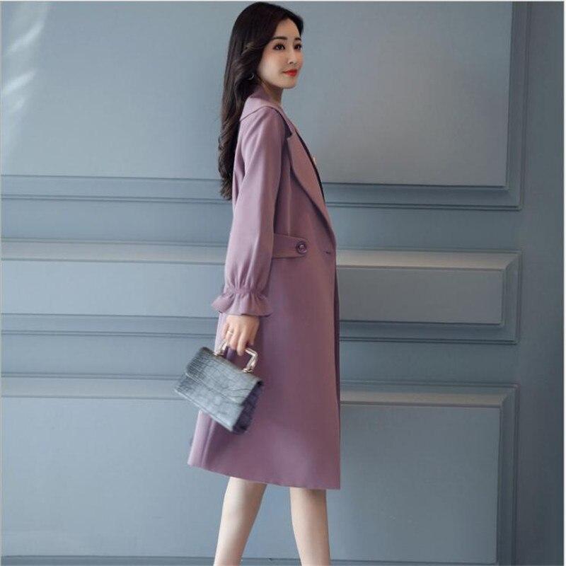 Manches light Long Tan La Cq1713 red Printemps 4xl Plus Tranchée Travail Cedar Office Lady Haut Automne 2018 Mode Red Flare Taille purple Femmes Élégant gfvBpqSw