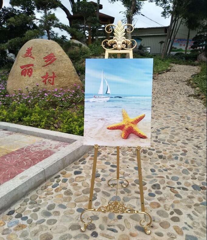 European style iron oil painting frame frame floor stand display stand poster stand photo bracket wedding easel
