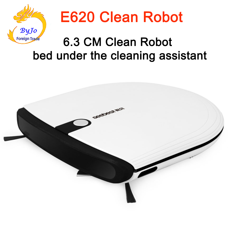Wireless Smart Remote Clean Robot with 2 Side Brush and Big Suction Power Sweep Robot Seebest E620 MOMO 3.0 2 hours Smart super slim mini robotic vacuum cleaner 6 3cm height with 2 side brush aspirador robot seebest e620 momo 3 0
